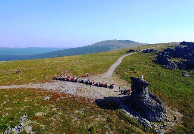 Фотогалерея: На квадроциклах на перевал Дятлова. 2018